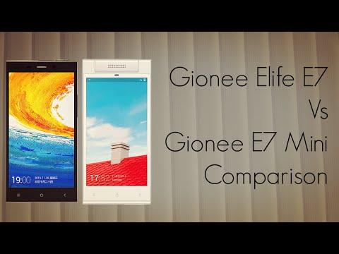 Gionee Elife E7 Vs E7 Mini Comparison - Features Camera Apps Form Factor - PhoneRadar