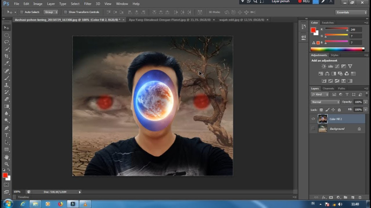 cara edit foto manipulasi | photoshop cs6 2018 - YouTube