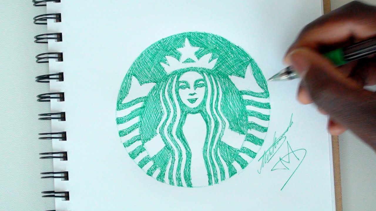 Sketch Sunday 32 How To Draw The Starbucks Logo Demoose Art