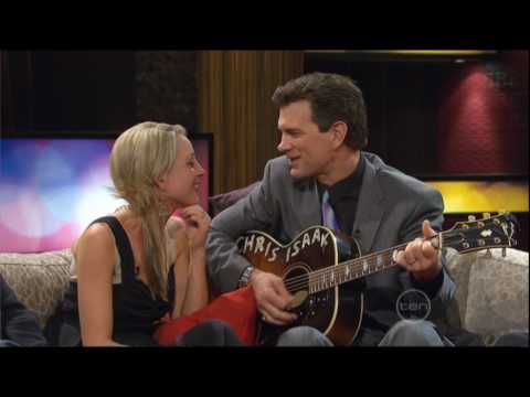 Chris Isaak serenades Carrie Bickmore on ROVE (Australia)