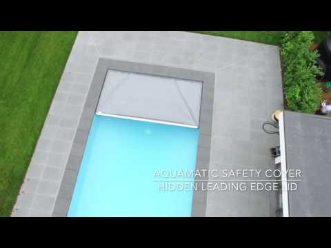 Aquamatic safety cover with Hidden Leading Edge Lid   Installation Albatross Pool Ltd