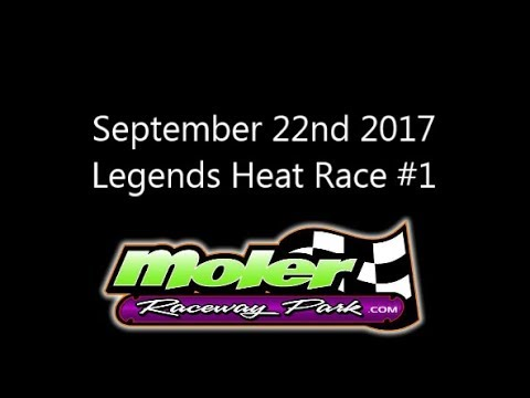 20170922 Moler Raceway Park Legends Heat Race #1