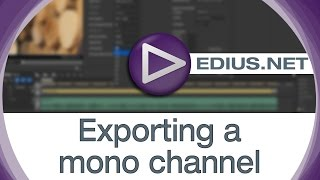 EDIUS.NET Podcast - Exporting a mono channel