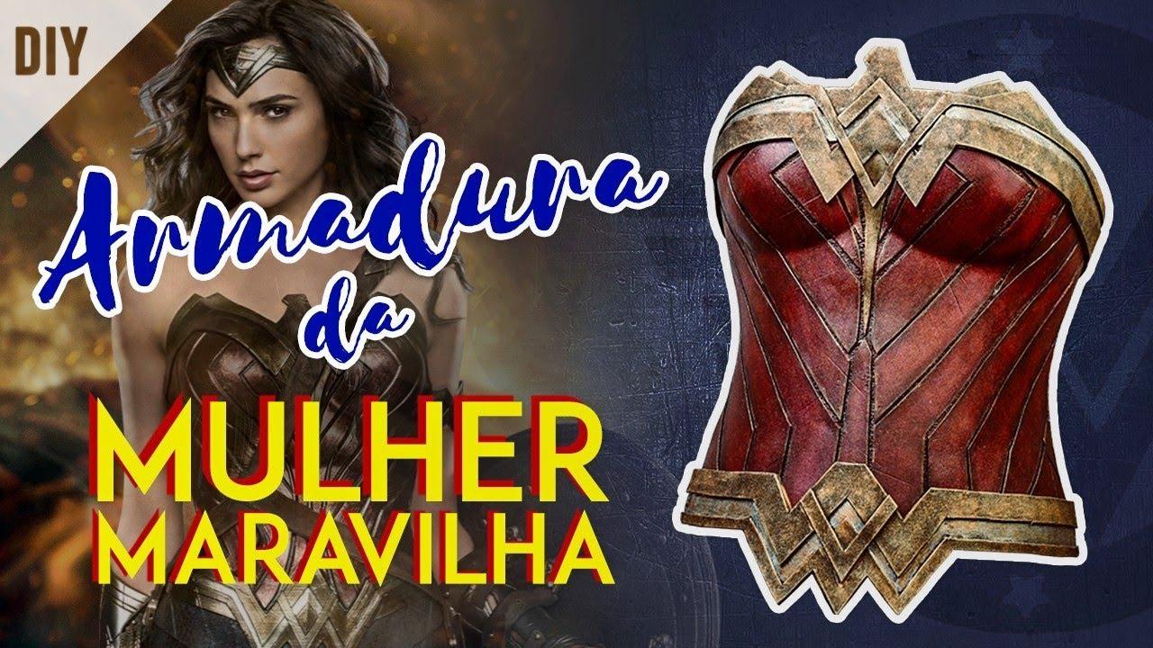 Diy Como Fazer A Armadura Da Mulher Maravilha Wonder Woman Armor