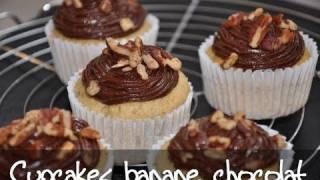 Recette des cupcakes chocolat banane par hervecuisine.com