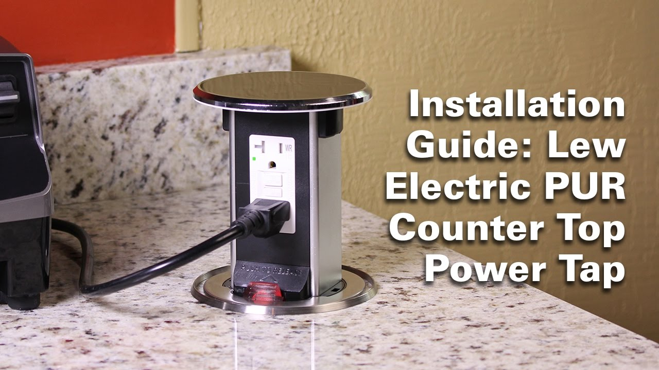 Pur Counter Top Tap Installation Guide Lew Electric Ings Company