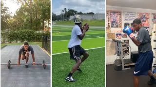 Jameis Winston WORKING OUT In NEW Saints Helmet, SLIM & TRIM Shows Off Boxing Skills