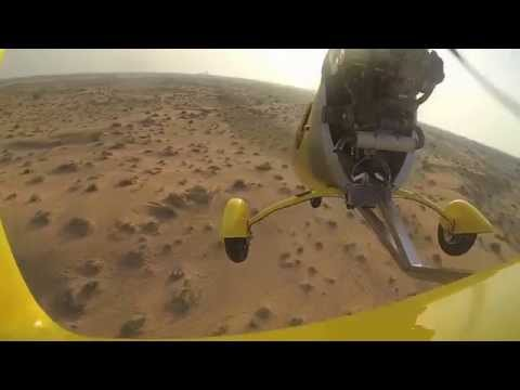 Osama flying AutoGyro in UAE - Emirates Aero Sports