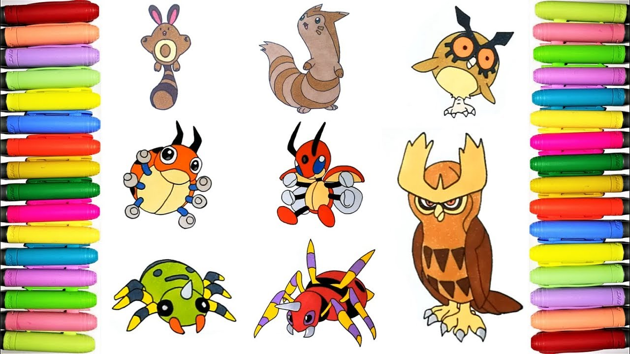 Pokemon Coloring Pages Pokedex 161 To 168