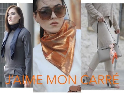 Jaime Mon Carre How To Wear Silk Scarf