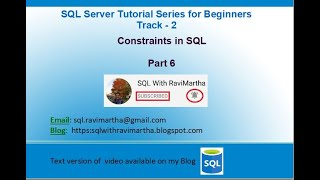 Constraints in SQL | Primary Key | Unique | NOT NULL | Default | Check|  Foreign Key | Constraints