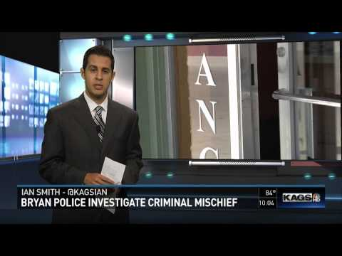 Bryan Police Investigate Criminal Mischief