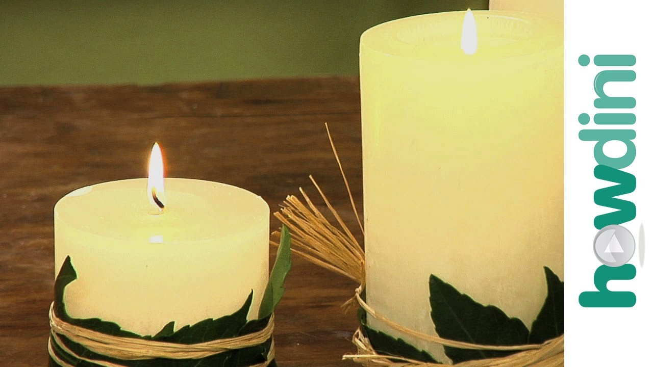 How to decorate a pillar candle