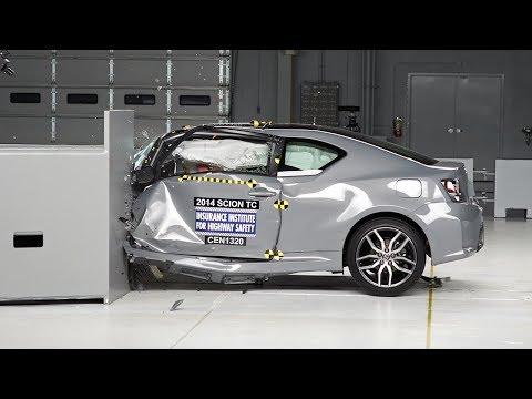 2014 Scion tC driver-side small overlap IIHS crash test