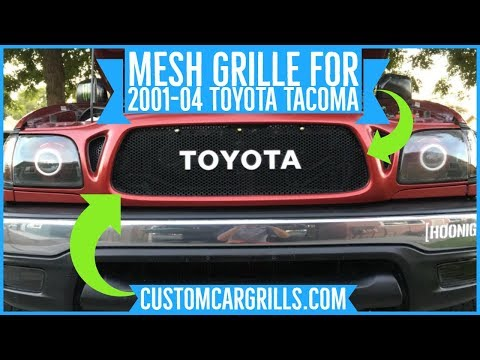 Toyota Tacoma 2001-2004 Mesh Grill Installation How-To By Customcargrills.com