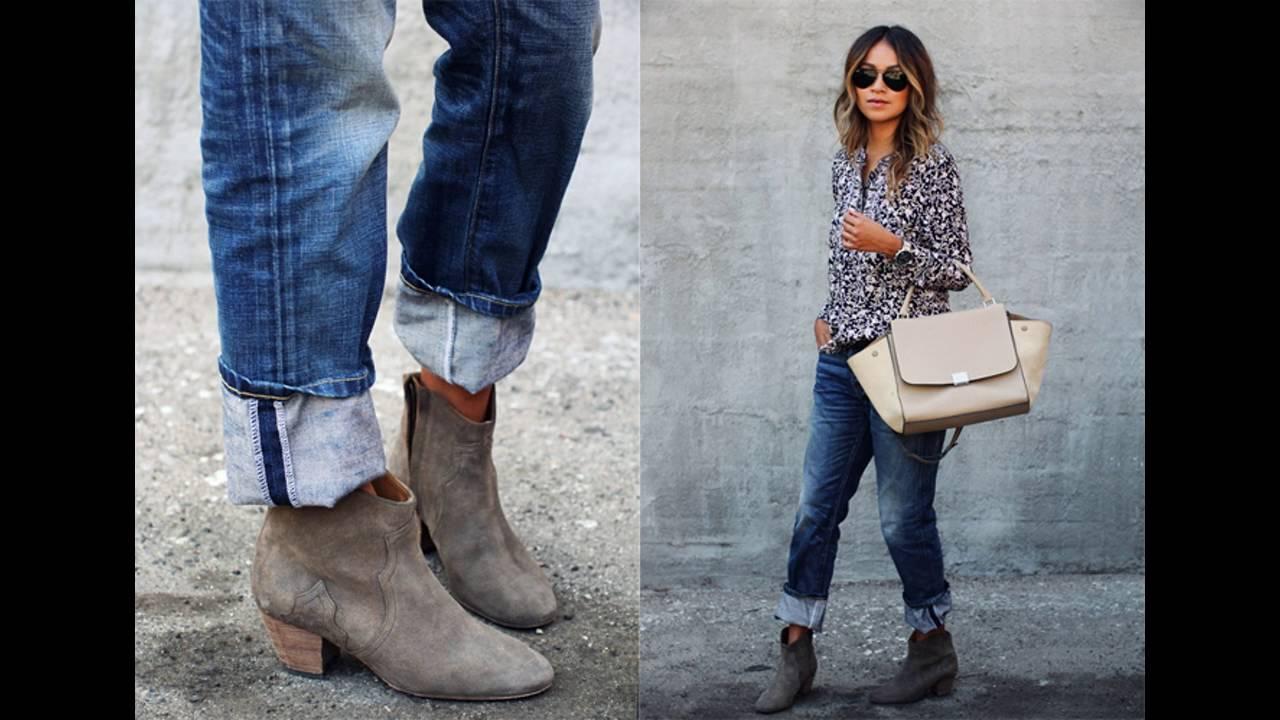 Las últimas Tendencias Como Combinar Jeans Con Botines