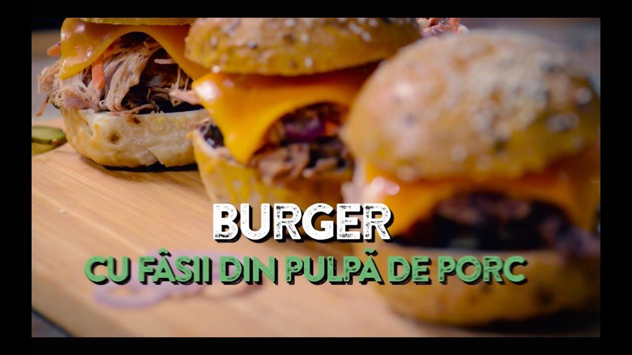Reteta - Burger cu fasii din pulpa de porc | Pulled Pork | Crock Pot | Bucataras TV