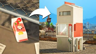 거대한 우유팩집 만들기! 심즈4 에코 라이프 건축 Si…