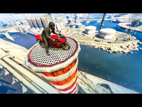 AMAZING MOTORBIKE STUNTS! - (GTA 5 Stunts & Fails) - Episode 100!