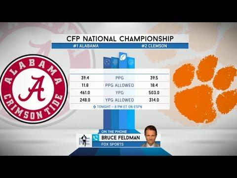 FOX Sports College Football Analyst Bruce Feldman Talks Clemson-Alabama Title Game - 1/9/17