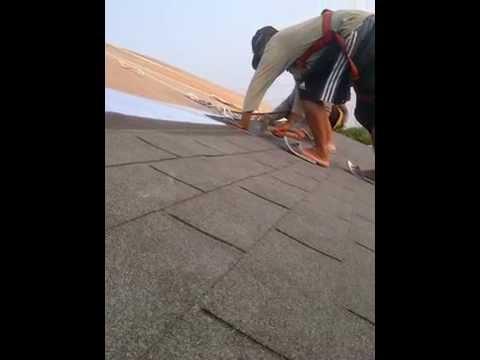 Pemasangan Atap Bitumen