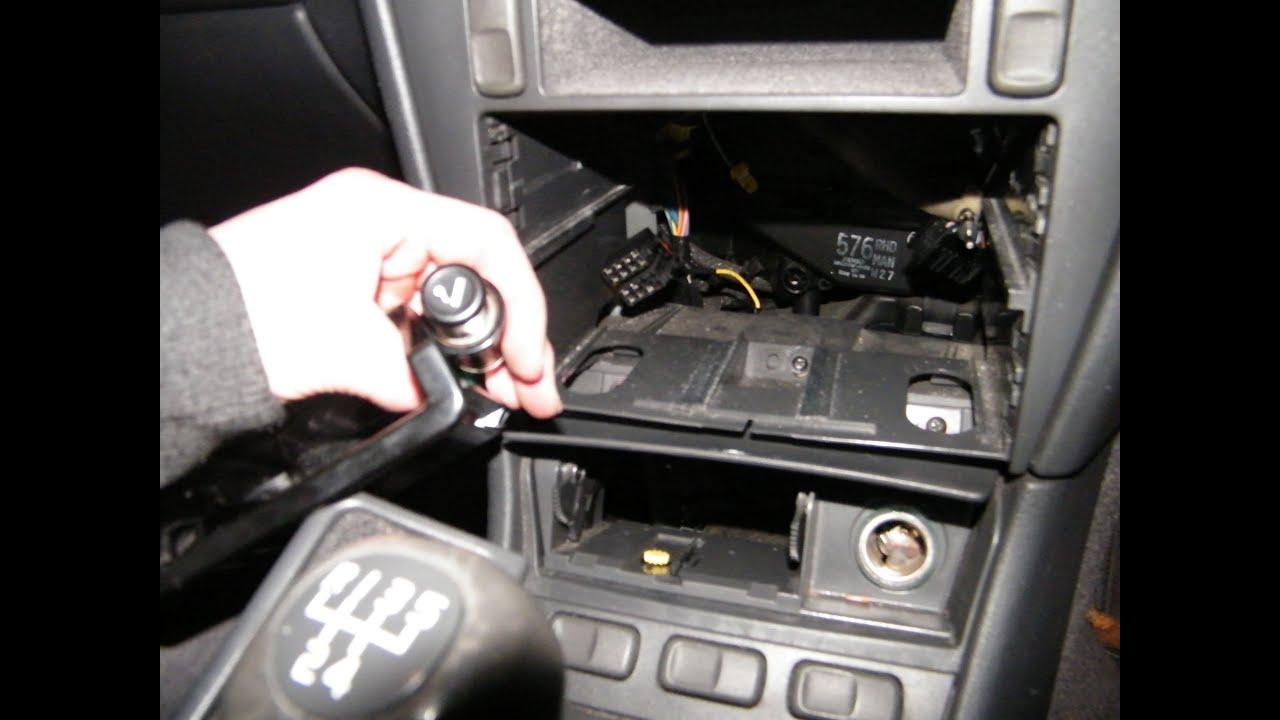 Cigarette Lighter Socket (Plug) Replacement shown on Volvo S40 V40  YouTube