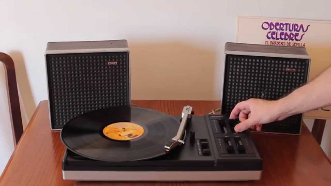 philips 614 vintage record player youtube. Black Bedroom Furniture Sets. Home Design Ideas