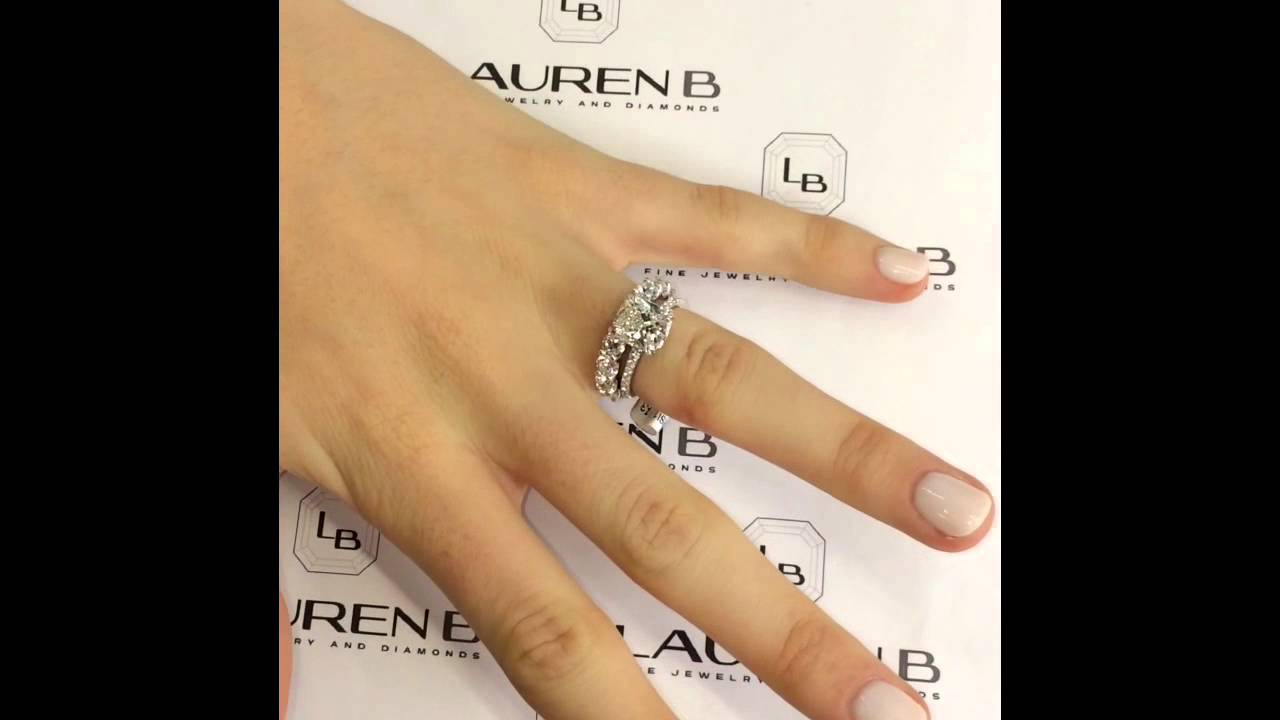 products kob wedding gold cut semi diamond tw ct grande progressive eternity round rings kobelli band white