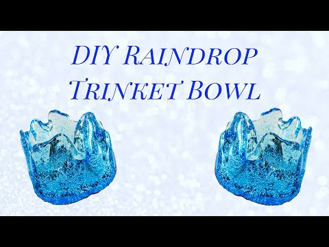 DIY Melted Plastic Raindrop Bowl