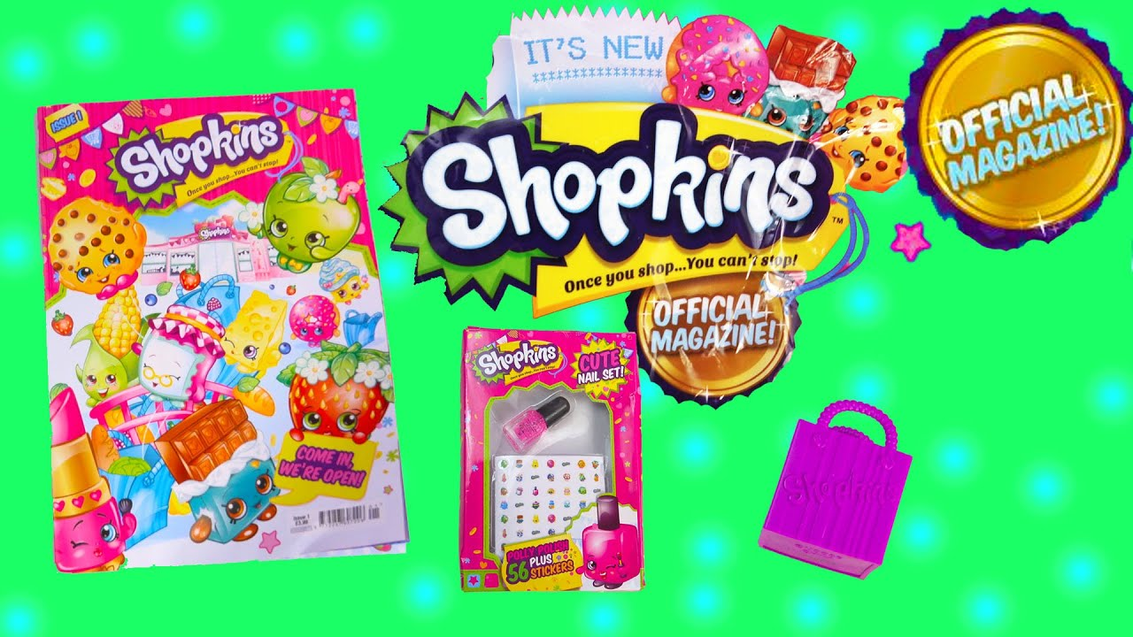 Shopkins coloring pages nail polish - Shopkins Official Magazine Season 1 2 Surprise Mystery Blind Bag Nail Polish Stickers Toy Video Youtube