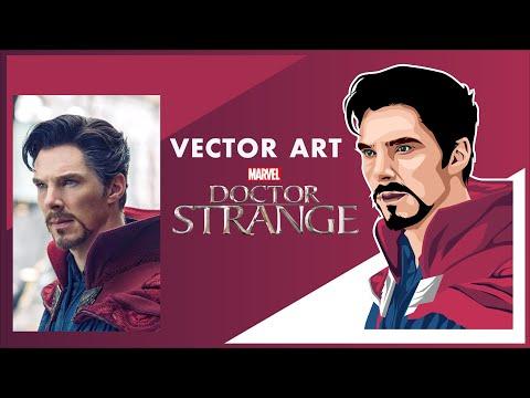 Dr. Strange Vector Art - How to make vector Art