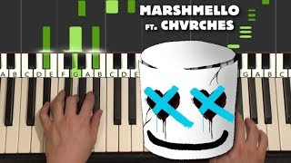Marshmello - Here With Me (Piano Tutorial Lesson)