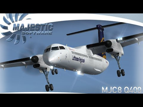 Lockheed Martin Prepar3D V 4.2 Majestic Software Dash 8 Q400 Pro Edition Dusk Flying