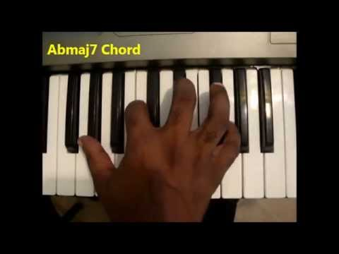 How To Play Abmaj7 Chord A Flat Major Seventh Ab Maj 7th On Piano