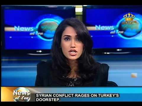 English News at ten in Jordan Television - 07-10-2012