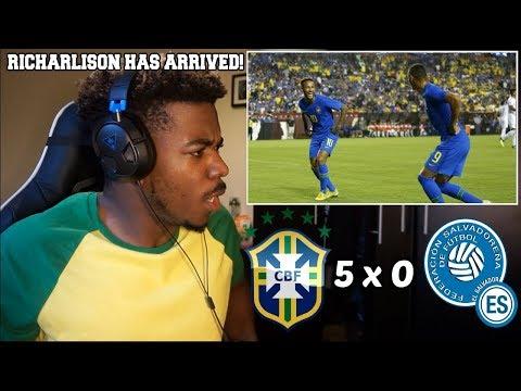 BRASIL 5 x 0 EL SALVADOR  Melhores Momentos e Gols - Amistoso Internacional 2018  Reaction