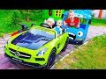Funny Kids and Funny baby doll Driving Car Pretend play Educational video Nursery Rhymes song