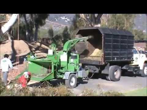 Wood Chipper Truck In Action Video For Children Video