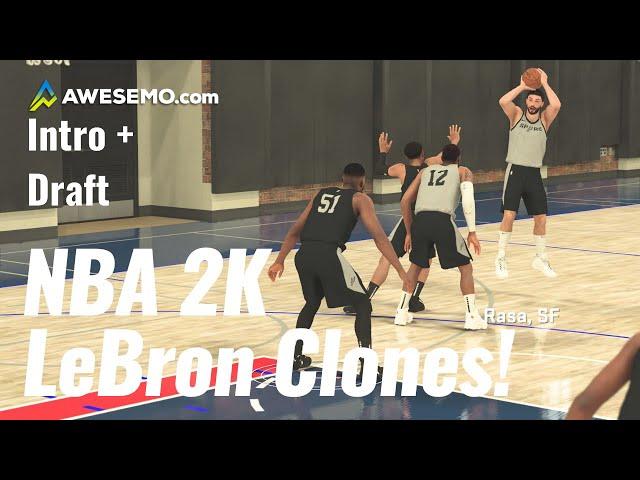 NBA 2K20 Career Sim - LeBron James Clones - Ep. 1 - Awesemo.com SideAction
