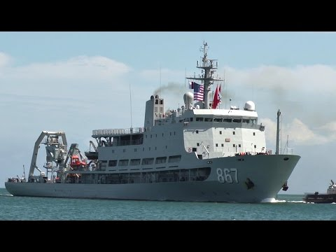 Chinese Navy Submarine Support Ship Changdao Arrives At Pearl Harbor For RIMPAC 2016
