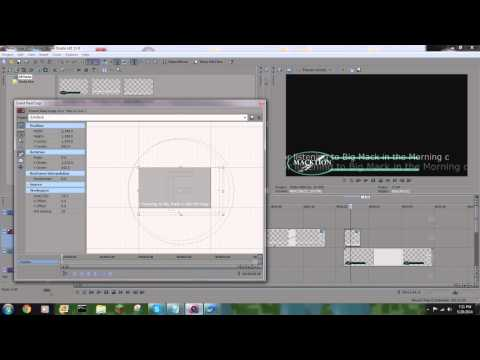 Sony Vegas Tutorial: News Ticker