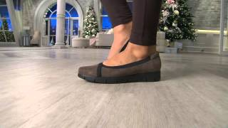 Clarks Artisan Nubuck Leather Slip-On Shoes - Daelyn Hill on QVC