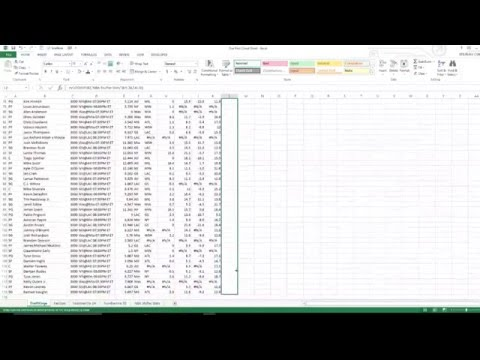 How to Build a DFS Cheat Sheet in Excel Part 2