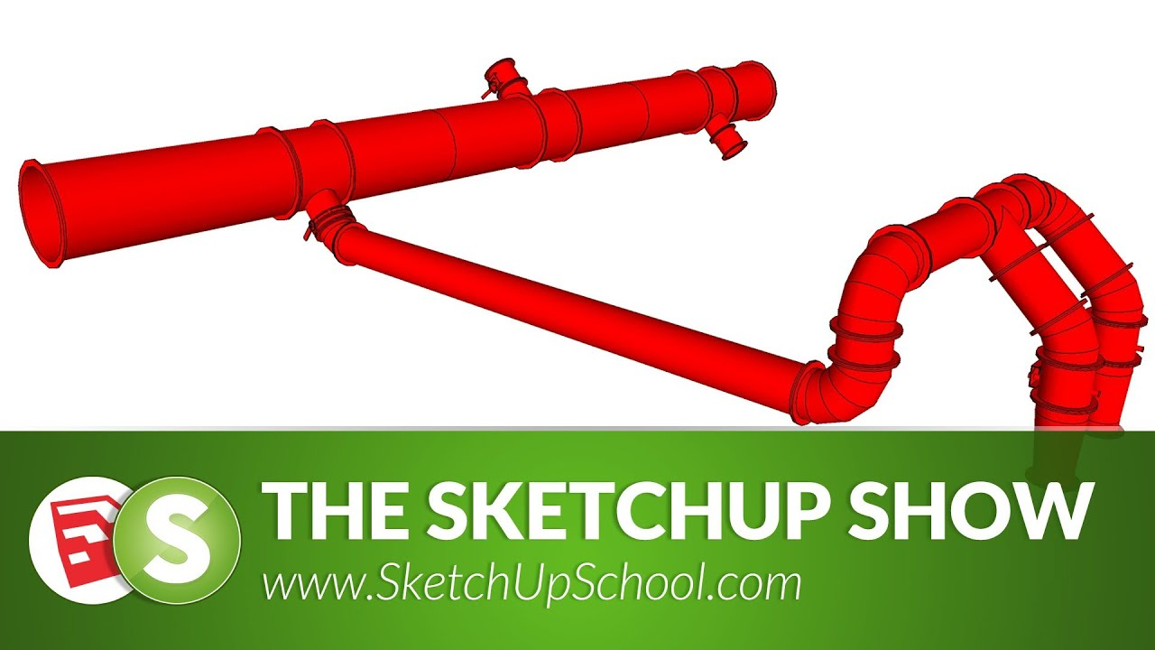 pipe layout with 3skeng for sketchup sketchup show 69 tutorial  [ 1280 x 720 Pixel ]