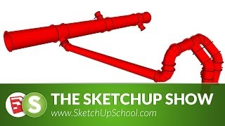 Pipe Layout with 3Skeng for Sketchup | SketchUp Show #69 (Tutorial)