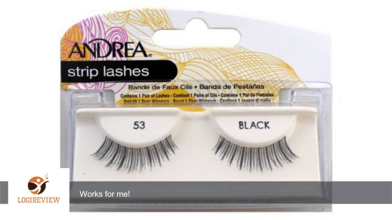 42e5e6859ce Andrea Mod Lashes Style 53 Black (Case of 6) | Review/Test - YouTube