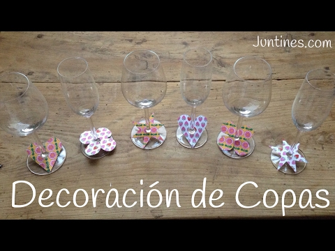 Copas decoradas a mano con papel manualidades f ciles de for Copas decoradas a mano