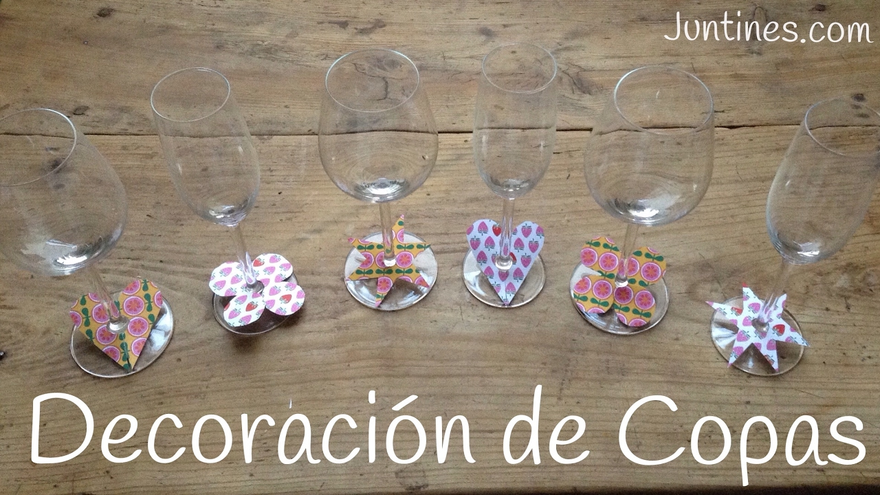 Copas decoradas a mano con papel manualidades f ciles for Copas decoradas a mano