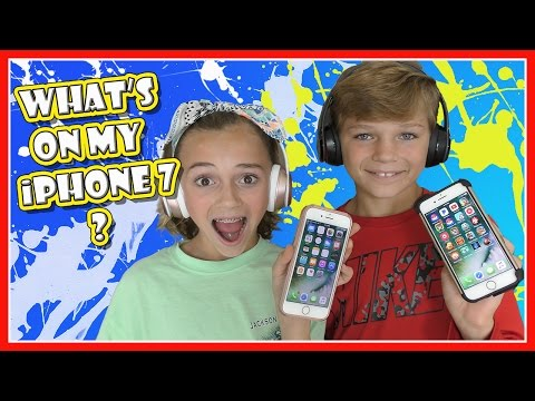 WHAT'S ON OUR iPHONE 7? | WE SHARE MOST POPULAR APPS AND GAMES | We Are The Davises