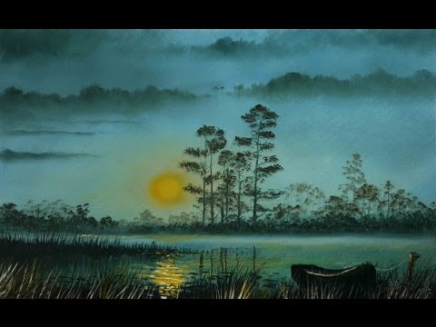 Winter Sunset – Time Lapse Painting